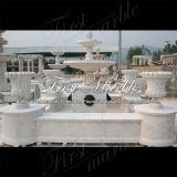Fontana di pietra di marmo Mf-1007 del calcio dell'oggetto d'antiquariato della fontana del granito