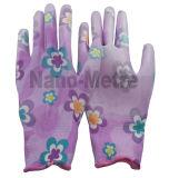 Перчатка PU флористических повелительниц Nmsafety покрытая садовничая