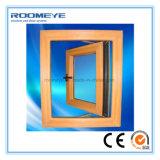 Roomeye UPVC/PVC 비닐 나무로 되는 색깔 프랑스 여닫이 창 Windows
