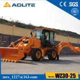 Piccolo caricatore cinese Wz30-25 della rotella dell'escavatore a cucchiaia rovescia del nuovo modello 2.5ton da vendere