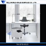 Bureau matériel lustré blanc de Corian de modèle moderne (TB-56)