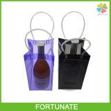 Sacchetto riutilizzabile trasparente del pacchetto di ghiaccio del dispositivo di raffreddamento di vino del PVC della plastica