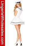 Halloween-Partei-Abendkleid-weißes Seemann-Kostüm der reizvollen Frauen