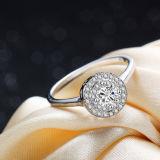 Подарок дня рождения Valentine венчания кольца стерлингового серебра женщин 925 минималист астетический