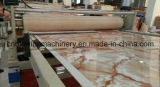 A produção plástica de pedra Line/PVC do perfil imitou a linha de produção de mármore do painel de parede