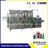 Máquina de relleno y que capsula de la bebida carbonatada en botella plástico
