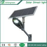 30W LEDのリチウムイオン電池との7-8mポーランド人のための太陽街灯