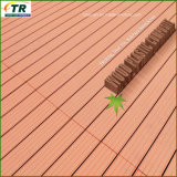 Decking extérieur composé en plastique en bois de la qualité WPC