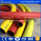 Mangueira flexível gás-ar de borracha da cor amarela