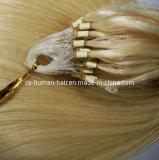 Extension micro de cheveux humains de boucle de boucle de qualité à la mode