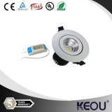 白およびSilver Dimmable LED 4W COB LED Downlight