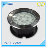 IP67 indicatore luminoso sepolto LED dell'acciaio inossidabile 18W Inground