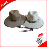 Chapéu de Sun, chapéu da promoção, chapéu de palha, chapéu de papel,