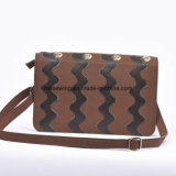 Rectangle Retro Unisex Hard Genunie Leather Waves Shoulder Bag