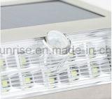 Lampada esterna solare di illuminazione della parete inferiore del patio del giardino dell'indicatore luminoso 9 LED del sensore di movimento