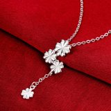 도매 형식 3 꽃 링크 1 꽃 펀던트 목걸이 밧줄 사슬 은 목걸이 보석
