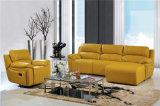 Sofa de salle de séjour avec le sofa moderne de cuir véritable réglé (449)