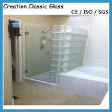 De duidelijke/Gekleurde Aangemaakte Muur van het Blok van het Glas in Badkamers