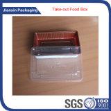 Het Dienblad van het voedsel met de Duidelijke Container van het Voedsel van het Deksel van de Dekking