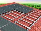Stents fotovoltaico per i tetti pendenti ed il tetto piano per uso domestico