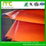 Transparente PVC laminado Tarpaulin para Windows