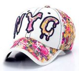 Изготовленный на заказ крышка спорта джинсовой ткани Nyc 3D Embroideried логоса, бейсбольная кепка, крышка отдыха в различном размере, конструкция и материал
