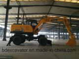 Mini excavador Bd80, Bd95 de la rueda de Baoding de los excavadores para la venta en existencias