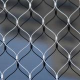 Maille tissée flexible de câble métallique pour la cage d'animal de zoo