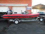 China Aqualand 19feet 5.8m Rigid Inflatable Speed ​​Boat / Rib Rescue / Dive / Fishing / Patrol / Bateau militaire (RIB580T)