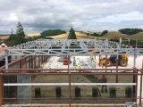 Exposición pasillo de estructura de acero en Reino Unido (ZY112)