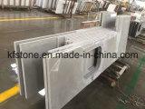 Pedra branca de quartzo da engenharia de superfície contínua artificial para a bancada