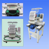 Únicos projetos de Tajima do preço da máquina do bordado das cores da cabeça 12