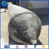 Pontón de goma flotante usado para la construcción costa afuera
