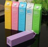 Горячий продавая крен 2600mAh силы молока заряжателя силы шаржа для подарков промотирования