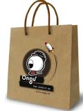 Sac de papier d'emballage/sac à provisions avec l'impression de logo