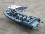 Barco de motor inflable rígido 13persons de China Aqualand 30feet los 9m/rescate/patrulla/barco militar de /Rib (RIB900)