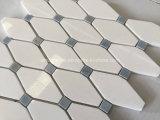 Azulejo de mosaicos de piedra de mármol blanco del octágono de Thassos