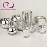 高品質の電気版の銀製のガラス蝋燭ホールダーの蝋燭のコップ