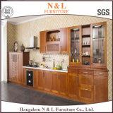 N & l дешевая мебель кухни твердой древесины для арендного дома
