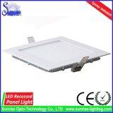 Утопленные AC85-265V панель/потолочное освещение квадрата 9W СИД