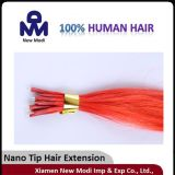 100% cabelo brasileiro do Virgin, extensão Nano do cabelo humano da ponta