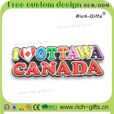 カスタマイズされた昇進のギフト柔らかいゴム製冷却装置磁石カナダ(RC-CA)