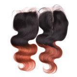 Accessori brasiliani 1b dei capelli della chiusura del merletto 4*4