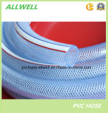 Волокна шланга воды PVC шланг трубы трубопровода сада воды пластичного прозрачного Braided