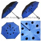 Цветастый портативный Handsfree прямой обратный перевернутый зонтик для автомобиля (SU-0023I)