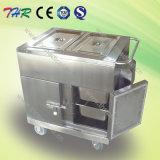 Chariot électrique à nourriture de chauffage d'acier inoxydable