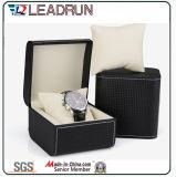 Caixa de embalagem de empacotamento do indicador do presente da embalagem do relógio do caso do armazenamento do relógio do papel de couro de veludo da caixa do relógio de madeira (YS193B)