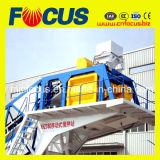planta de mistura 50~60cbm/H concreta móvel automática, planta de mistura concreta portátil
