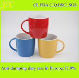 Fabrik-Großhandelsfarbe glasig-glänzende keramische 460ml Kaffeetasse