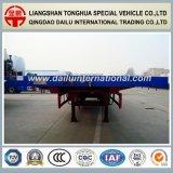 3 des essieux 40FT de faisceau de lit plat remorque droite bleue semi